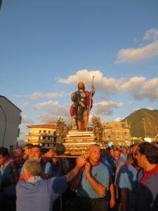 San Rocco in Processione su via Matteotti, 2014.