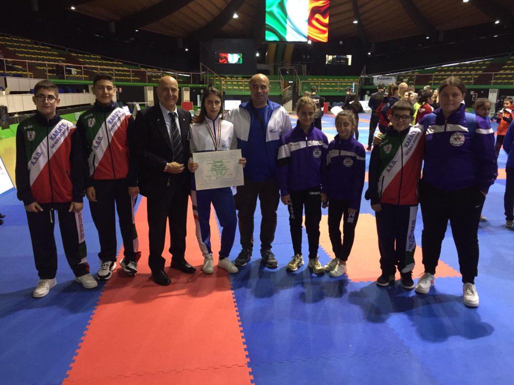 La neo-campionessa italiana con il Team