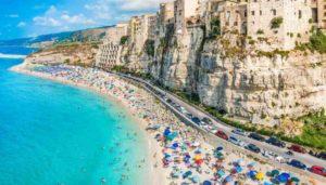 La spiaggia di Tropea