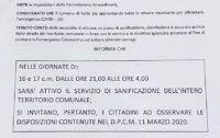 Scilla, EMERGENZA COVID-19