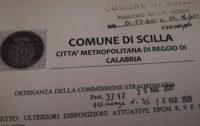 SCILLA Covid-19 Ordinanza di limitazioni: non sono ammessi spostamenti in entrata o in uscita dal paese